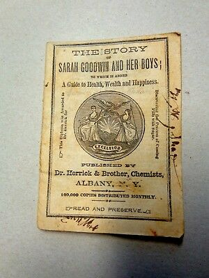 1858 Sarah Goodwin & Her Boys Health Happiness Cure All Medicines Guide