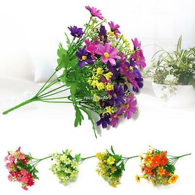 1 Bunch Artificial Fake Silk Flower Bouquet Home Wedding Party Decoration NICE