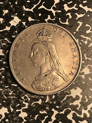 1887 Great Britain Double Florin Lot#X5038 Large Silver Coin! Nice!
