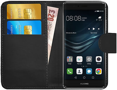 G-Shield® Premium Luxury Leather Magnetic Flip Wallet Case Cover For Huawei P9