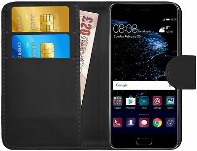 G-Shield® Luxury Leather Magnetic Flip Wallet Case Cover For Huawei P10 Plus