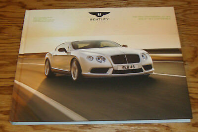 2015 Bentley New Continental GT V8 S & Convertible Hardcover Book Sales Brochure
