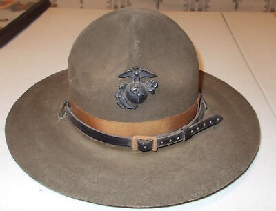 Early WWII USMC Marine Corps Campaign Hat Drill Sergeant