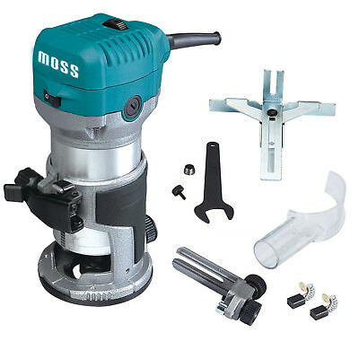 """Moss 3/8"""" & 1/4"""" Electric Hand Trimmer Wood Laminator Router Joiners Tool 220V"""