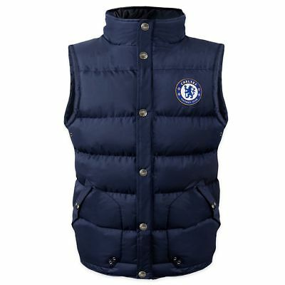 NEW Chelsea FC  Boys Padded Body Warmer Jacket Gilet 6-7 Years - Navy Blue