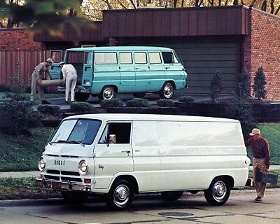 1967 Dodge A108 Extended Wheelbase & A100 Compact Van Truck Factory Photo ca9327