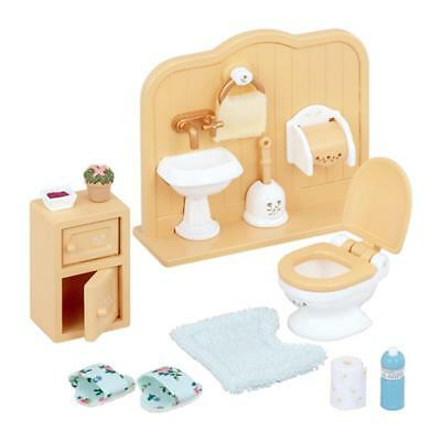 Sylvanian Families Toilet Set Furniture Bath Furniture Set H 4.9 cm W 11.4 cm