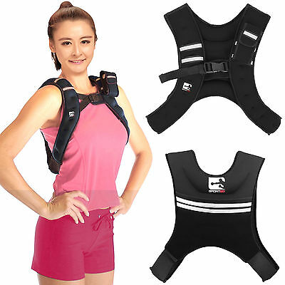 Sporteq Weighted Vest Home Gym Running Fitness Weight Loss Strength Jacket 6kg