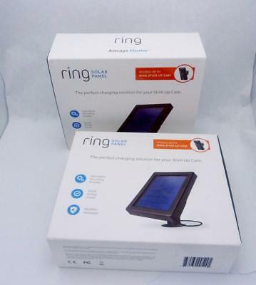 USED Pair (2) RING Solar Panels for Outdoor Use with Your RING Cameras 23722