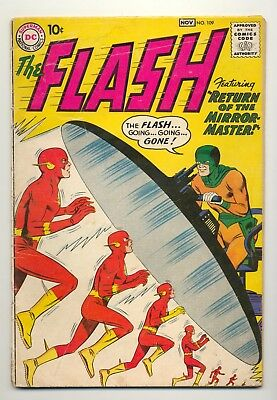Flash #109 (1959) G/VG (3.0) ~ 2nd Appearance Mirror Master ~ Carmine Infantino