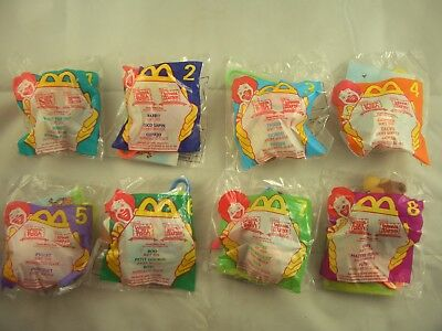 McDonalds Happy Meal Winnie the Pooh Soft Plush Toy Clips Set of 8