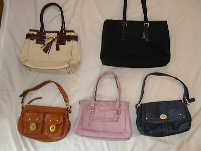 Lot Of 5 Coach Leather/canvas Logo Purses Totes Handbags Shoulder Bags