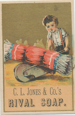 C8125   Victorian Trade Card C.l Jones  Rival Soap