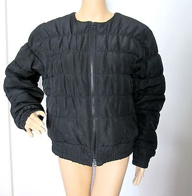 76c4c0f794 STELLA MCCARTNEY BLACK Quilted Collarless Zipper Front Puffer Jacket ...