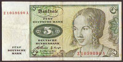 Germany  Federal Republic  5 Deutsche Mark 1960    REPLACEMENT  (Z...A)