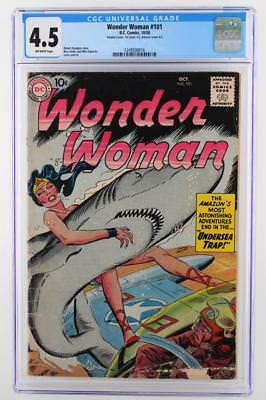 Wonder Woman #101 - CGC 4.5 VG+ DC 1958 - Double Cover!!!