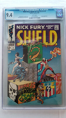 Nick Fury Agent of SHIELD #1 CGC 9.4 NM  WHITE Pages