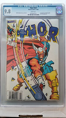 Thor #337 CGC 9.8 NM/M 1st Appearance Beta Ray Bill Newstand WHITE Pages