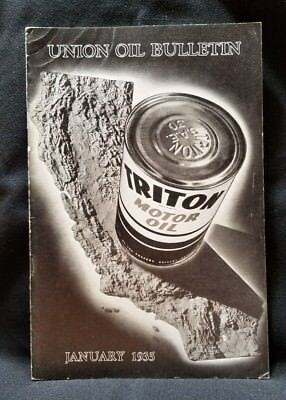 Union Oil Bulletin Employee Vtg Aviation and Automobile 76 Rare January  1935
