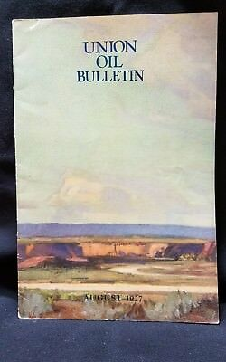 Union Oil Bulletin Employee Vtg Aviation Boat train Automobile 76 August 1927 2