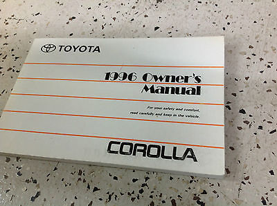 1996 toyota corolla owners owner operators manual factory book x rh picclick com 1996 toyota corolla dx owners manual 1996 Toyota Corolla Owners Manual PDF