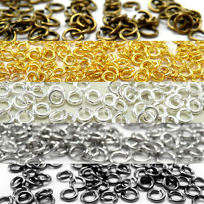 lOTS 50-500Pcs Open Jump Rings Round Oval Split Findings Craft Jewelry 4-20mm