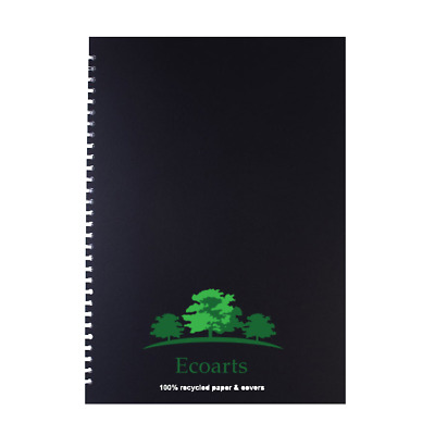 QTY4 x 100/% recycled ecoarts sketchbook pad A4 100 page  wirebound uk made 4 Pak