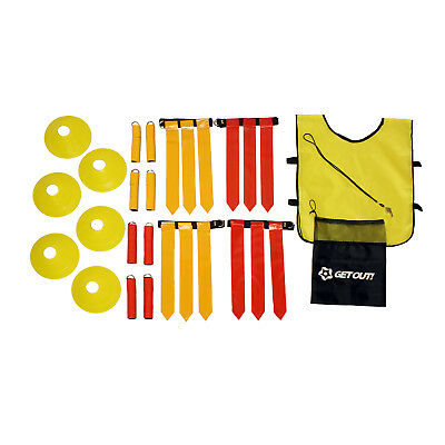 American Flag Football Set Practice Kit for 12 Players & Referee Gear