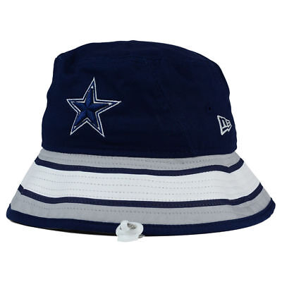 Dallas Cowboys NFL Team Stripe Bucket New Era Training Camp Men's Floppy Hat Cap
