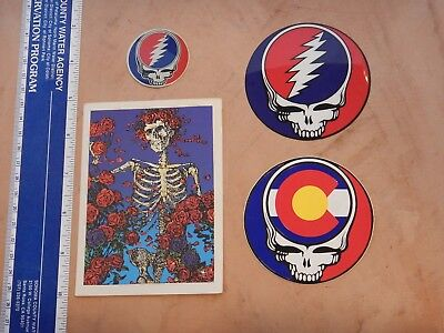 Lot Of 4 Grateful Dead Decal/stickers