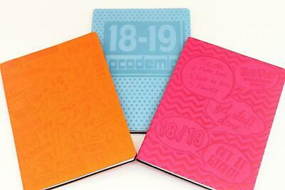 2018-2019 Academic A5 Soft Touch Flexi-Cover Week To View Diary - Random