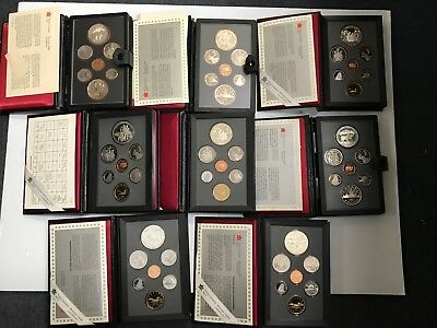 Lot of 8 Mix Date Canadian Silver Proof Sets *Q1