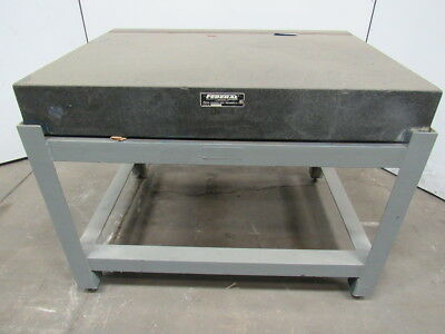 """Federal Black Granite Surface Inspection Plate 48""""x 36""""x 6-1/2"""" W/T Slot & Stand"""