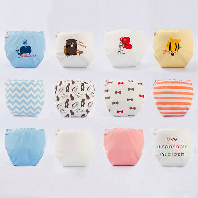 1PCS Soft Reusable Baby Kids Boy Girls Washable Cloth Diaper Nappies Fit 0-1Y