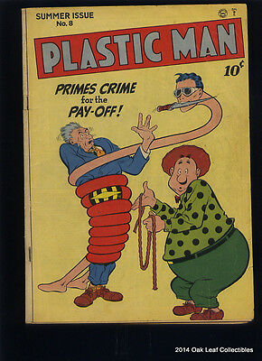 Plastic Man 8 Comic Book 1947 VG+