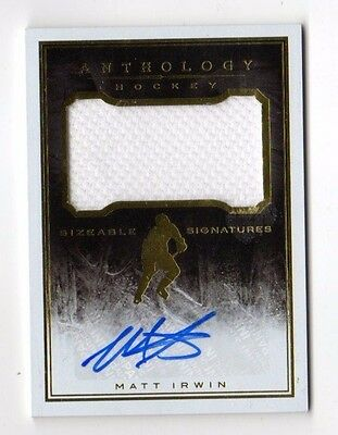 Matt Irwin Nhl 2015-16 Panini Anthology Sizeable Jersey Signatures #/299 (Bruins