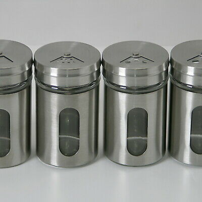 100 Piece Spice Spreader,Salt Shaker,Pepper Shakers Made of Glass/Stainless