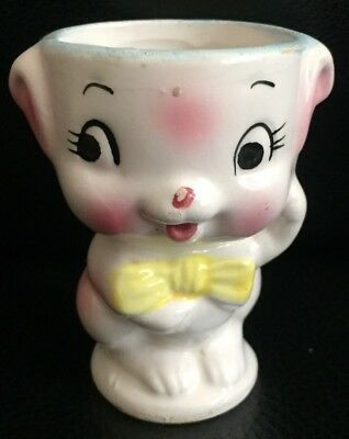 "VINTAGE CERAMIC ""CUTE LITTLE CHARACTER"" EGG CUP in EXC"