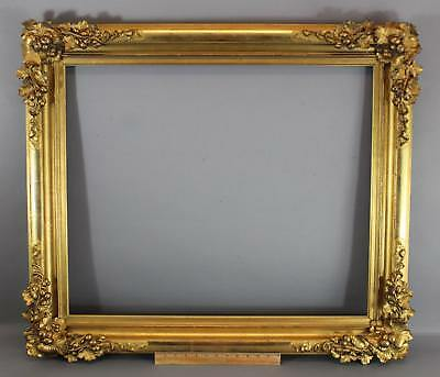 Large 19thC Antique Gold Gilt Frame Berries & Vines for 25x30 Oil Painting