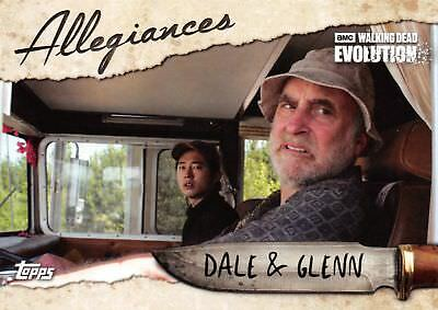 Walking Dead Evolution ALLEGIANCES Trading Card Insert AL-9 / DALE & GLENN