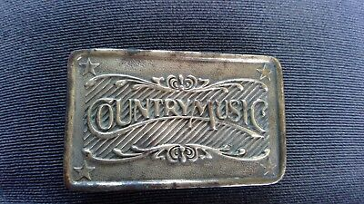 Vintage Country Music Belt Buckle MFG by Indiana Metal Craft