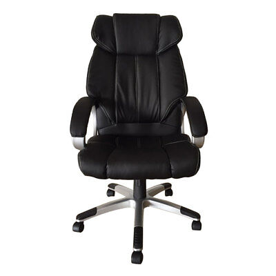 PU Leather Black High Back Office Chair Executive Swivel Computer Desk Chair