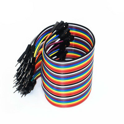 40pcs Breadboard Dupont Jump Wire Cable F-F F-M M-M  For Arduino 10cm 20cm 30cm