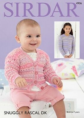 d72476caa06 SIRDAR 4906 KNITTING Pattern Baby and Childrens Cardigans in Snuggly ...