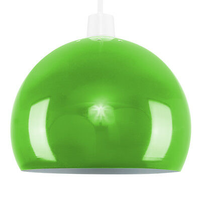 Modern Gloss Green Arco Style Retro Dome Ceiling Pendant Light Shade Lampshade