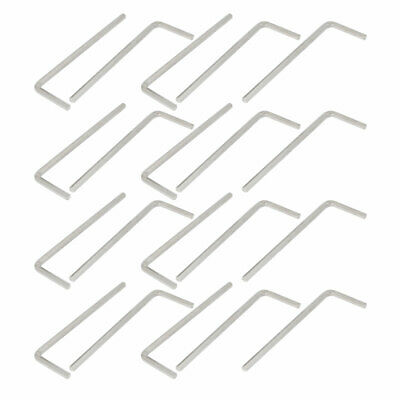 5/64-inch 45# Carbon Steel Nickel Plated Hex Key L-Wrench 50mm Length 20pcs