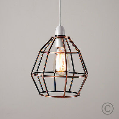 Modern copper metal wire frame ceiling pendant light lamp shade modern copper metal wire frame ceiling pendant light lamp shade lampshade lights greentooth Choice Image