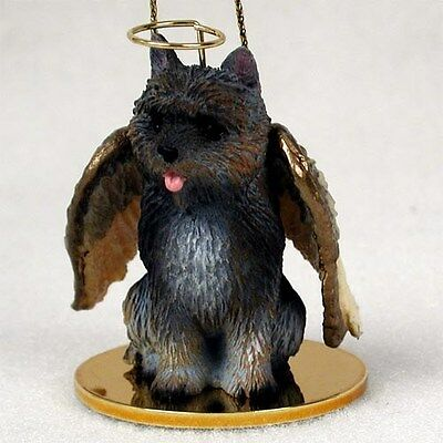 CAIRN TERRIER Brindle Dog ANGEL Tiny One Ornament Figurine Statue