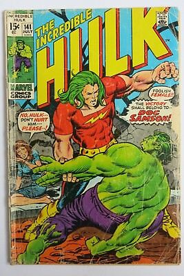 The Incredible Hulk #141 - 1st app. Doc Samson - Marvel Comics