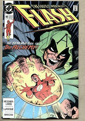 Flash #40-1990 nm- Wally West Dr. Alchemy Doctor Alchemy